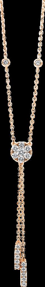 Halskette mit Anhänger Brogle Selection Illusion aus 750 Roségold mit 19 Brillanten (0,51 Karat)
