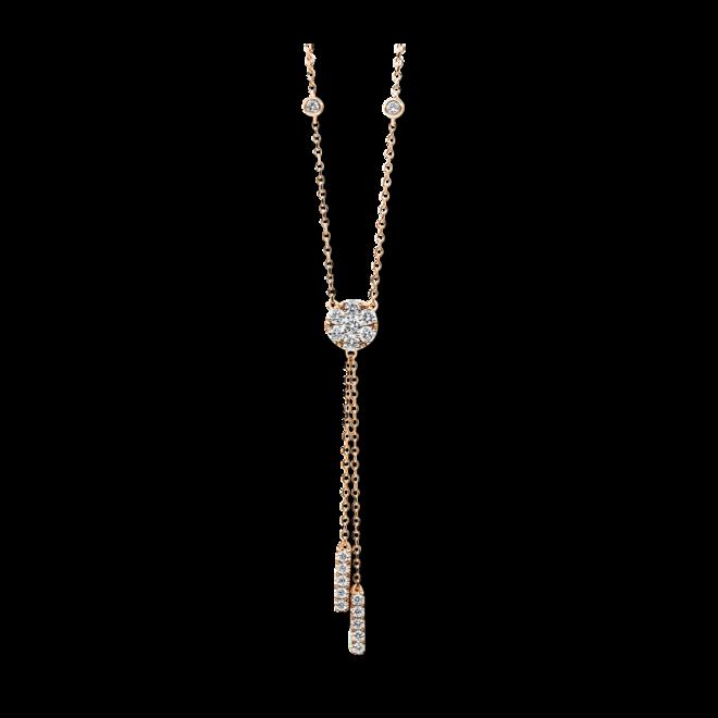 Halskette mit Anhänger Brogle Selection Illusion aus 750 Roségold mit 19 Brillanten (0,51 Karat) bei Brogle