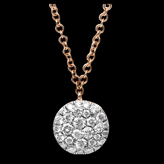 Halskette mit Anhänger Brogle Selection Illusion aus 750 Roségold mit 30 Brillanten (0,37 Karat) bei Brogle