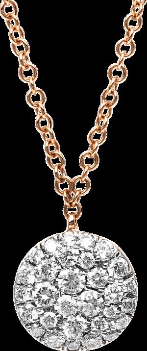 Halskette mit Anhänger Brogle Selection Illusion aus 750 Roségold mit 30 Brillanten (0,37 Karat)