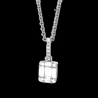 Brogle Selection Halskette mit Anhänger Illusion 4C062W8-1