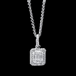 Brogle Selection Halskette mit Anhänger Illusion 4C070W8-3