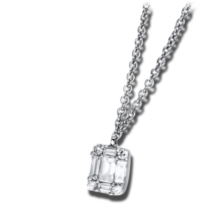 Brogle Selection Halskette mit Anhänger Illusion 4C076W8-2