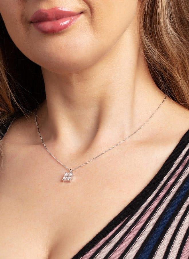 Halskette mit Anhänger Brogle Selection Illusion aus 750 Weißgold mit 13 Diamanten (0,76 Karat) bei Brogle