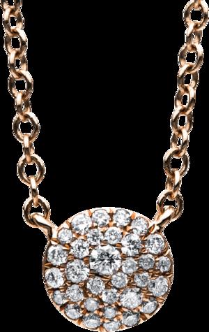 Halskette mit Anhänger Brogle Selection Illusion aus 585 Roségold mit 32 Brillanten (0,15 Karat)