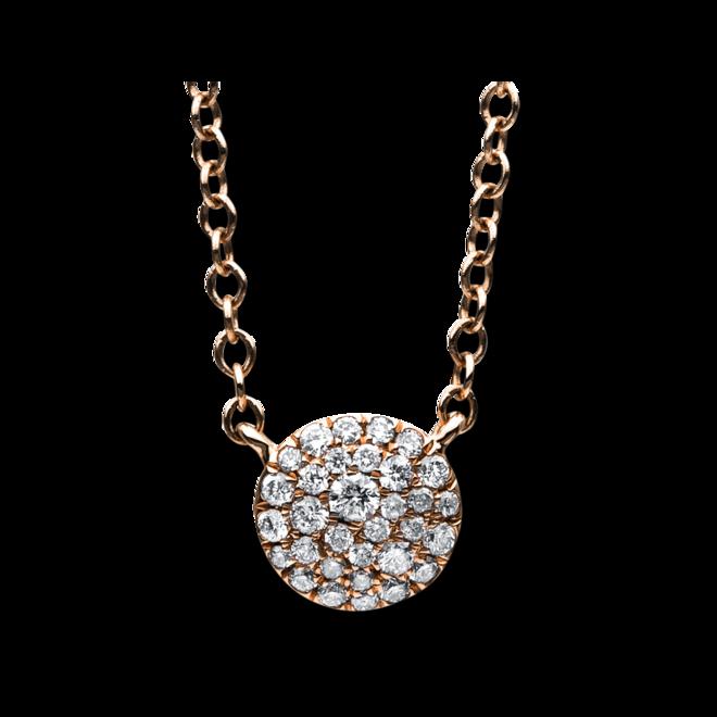 Halskette mit Anhänger Brogle Selection Illusion aus 585 Roségold mit 32 Brillanten (0,15 Karat) bei Brogle