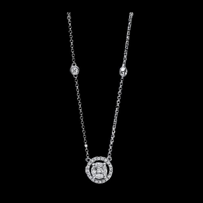 Halskette mit Anhänger Brogle Selection Illusion aus 750 Weißgold mit 31 Diamanten (0,5 Karat) bei Brogle
