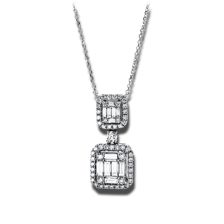 Brogle Selection Halskette mit Anhänger Illusion 4D062W8-1