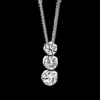 Brogle Selection Halskette mit Anhänger Illusion 4D090W8-1