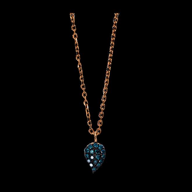Halskette mit Anhänger Brogle Selection Illusion aus 750 Roségold mit 17 Brillanten (0,1 Karat) bei Brogle
