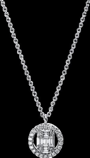 Halskette mit Anhänger Brogle Selection Illusion aus 750 Weißgold mit 31 Brillanten (0,25 Karat)