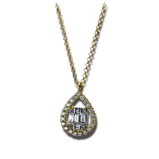 Brogle Selection Halskette mit Anhänger Illusion 4E325G8-1