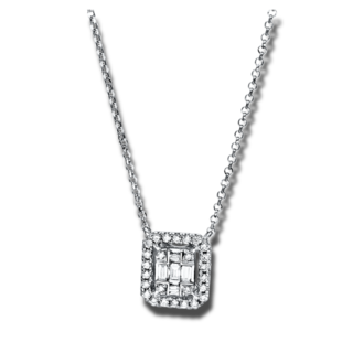 Brogle Selection Halskette mit Anhänger Illusion 4E327W8-2