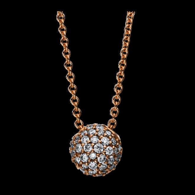 Halskette mit Anhänger Brogle Selection Illusion aus 750 Roségold mit 54 Brillanten (0,3 Karat)