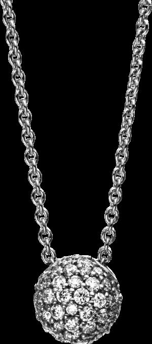 Halskette mit Anhänger Brogle Selection Illusion aus 750 Weißgold mit 54 Brillanten (0,3 Karat)