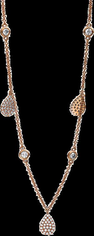 Halskette mit Anhänger Brogle Selection Illusion aus 750 Roségold mit 141 Brillanten (0,89 Karat)