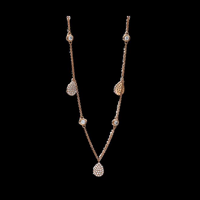 Halskette mit Anhänger Brogle Selection Illusion aus 750 Roségold mit 141 Brillanten (0,89 Karat) bei Brogle