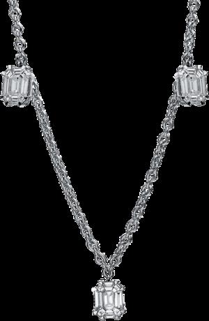 Halskette Brogle Selection Illusion aus 750 Weißgold mit 45 Brillanten (2,23 Karat)