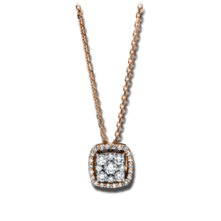 Brogle Selection Halskette mit Anhänger Illusion 4F118R8-1