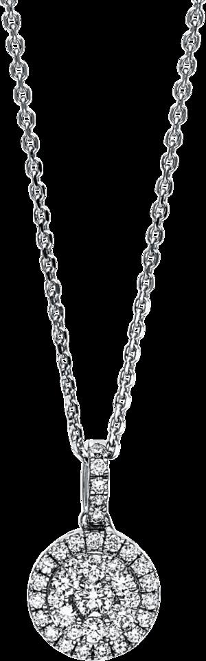 Halskette mit Anhänger Brogle Selection Illusion aus 750 Weißgold mit 37 Brillanten (0,33 Karat)
