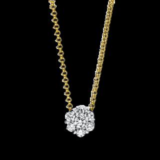 Brogle Selection Halskette mit Anhänger Illusion 4F135GW8-2