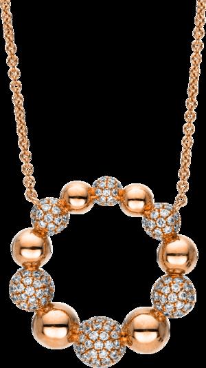 Halskette mit Anhänger Brogle Selection Illusion aus 750 Roségold mit 183 Brillanten (1,05 Karat)