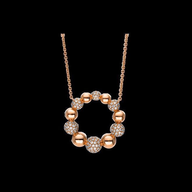 Halskette mit Anhänger Brogle Selection Illusion aus 750 Roségold mit 183 Brillanten (1,05 Karat) bei Brogle