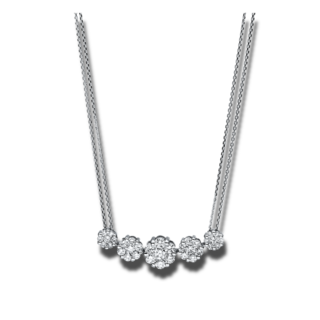 Brogle Selection Halskette mit Anhänger Illusion 4F236W8-1