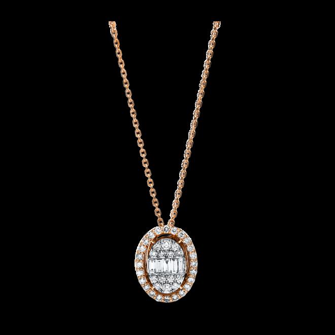 Halskette mit Anhänger Brogle Selection Illusion aus 585 Roségold und 585 Weißgold mit 43 Brillanten (0,49 Karat) bei Brogle