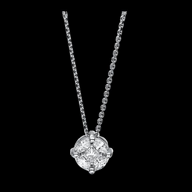 Halskette mit Anhänger Brogle Selection Illusion aus 750 Weißgold mit 5 Diamanten (0,57 Karat) bei Brogle