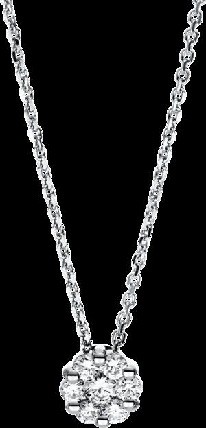 Halskette mit Anhänger Brogle Selection Illusion aus 585 Weißgold mit 7 Brillanten (0,28 Karat)