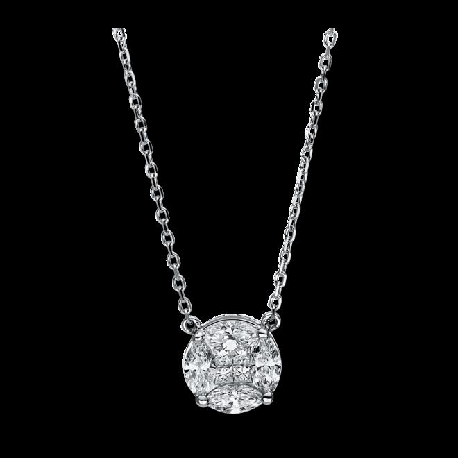 Halskette mit Anhänger Brogle Selection Illusion aus 750 Weißgold mit 4 Diamanten (0,07 Karat) bei Brogle
