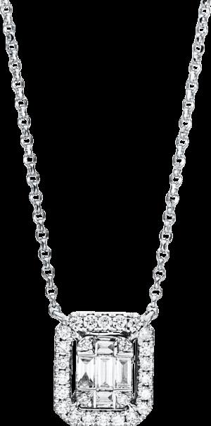 Halskette mit Anhänger Brogle Selection Illusion aus 750 Weißgold mit 31 Brillanten (0,26 Karat)