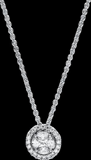 Halskette mit Anhänger Brogle Selection Illusion aus 750 Weißgold mit 25 Brillanten (0,3 Karat)