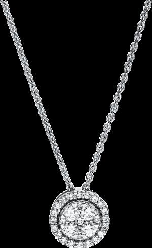 Halskette mit Anhänger Brogle Selection Illusion aus 750 Weißgold mit 29 Brillanten (0,29 Karat)