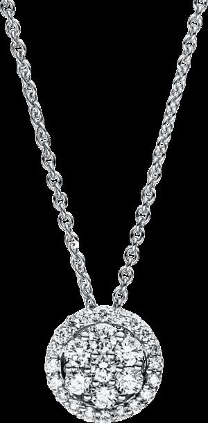 Halskette mit Anhänger Brogle Selection Illusion aus 750 Weißgold mit 27 Brillanten (0,3 Karat)