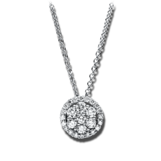 Brogle Selection Halskette mit Anhänger Illusion 4F354W8-2