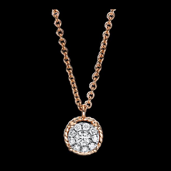 Halskette mit Anhänger Brogle Selection Illusion aus 750 Roségold mit 10 Brillanten (0,15 Karat) bei Brogle