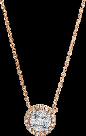 Halskette mit Anhänger Brogle Selection Illusion aus 750 Roségold mit 27 Brillanten (0,31 Karat)