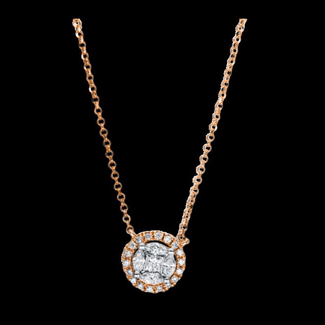 Halskette mit Anhänger Brogle Selection Illusion aus 750 Roségold mit 27 Brillanten (0,31 Karat) bei Brogle