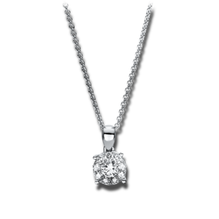 Brogle Selection Halskette mit Anhänger Illusion 4F453W8-1