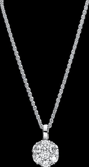 Halskette mit Anhänger Brogle Selection Illusion aus 750 Weißgold mit 13 Brillanten (0,75 Karat)