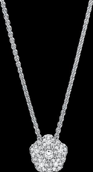 Halskette mit Anhänger Brogle Selection Illusion aus 750 Weißgold mit 41 Brillanten (0,29 Karat)