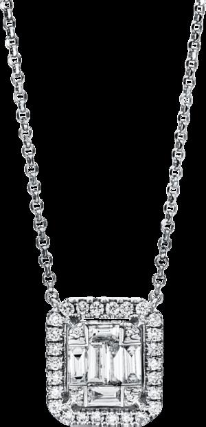 Halskette mit Anhänger Brogle Selection Illusion aus 750 Weißgold mit 36 Brillanten (0,39 Karat)