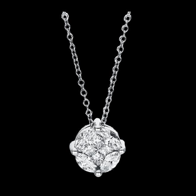 Halskette mit Anhänger Brogle Selection Illusion aus 750 Weißgold mit 8 Diamanten (0,63 Karat) bei Brogle