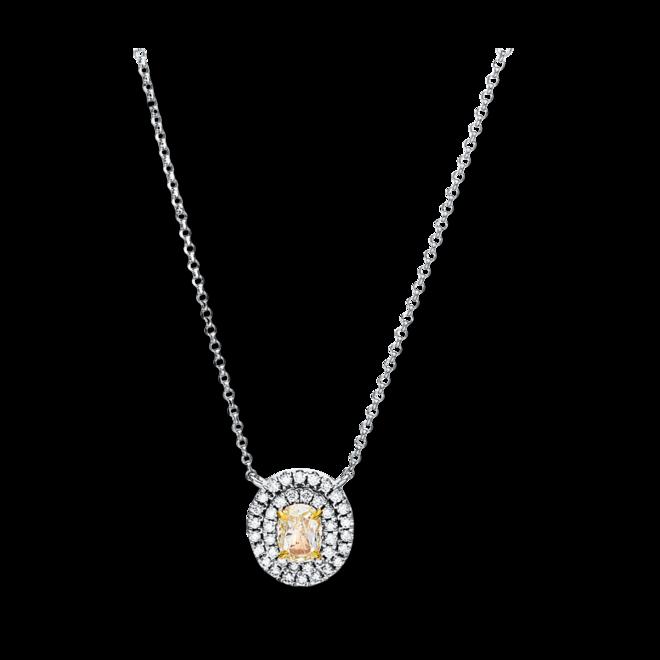 Halskette mit Anhänger Brogle Selection Illusion aus 750 Weißgold mit 41 Brillanten (0,66 Karat) bei Brogle