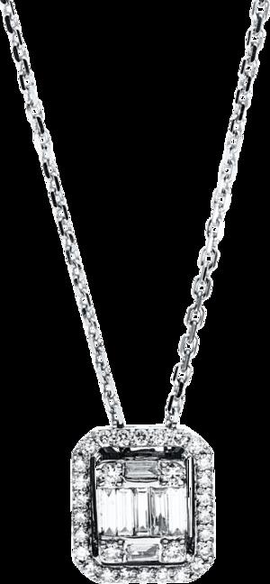 Halskette mit Anhänger Brogle Selection Illusion aus 750 Weißgold mit 37 Brillanten (0,28 Karat)