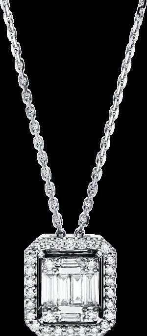 Halskette mit Anhänger Brogle Selection Illusion aus 750 Weißgold mit 36 Brillanten (0,45 Karat)