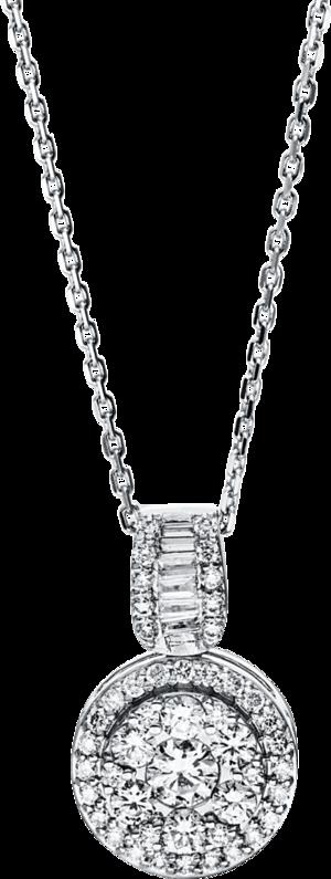 Halskette mit Anhänger Brogle Selection Illusion aus 750 Weißgold mit 53 Brillanten (0,6 Karat)