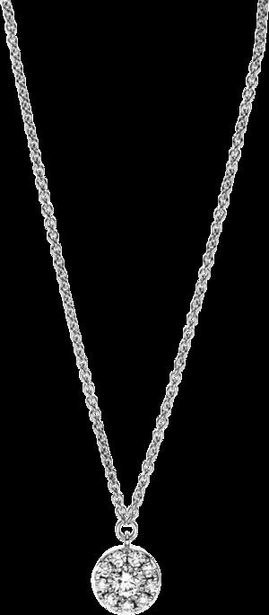 Halskette mit Anhänger Brogle Selection Illusion aus 750 Weißgold mit 10 Brillanten (0,17 Karat)
